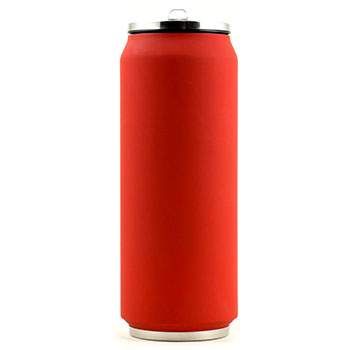 Canette isotherme Inox 500 ml Yoko Design - Soft Touch Rouge