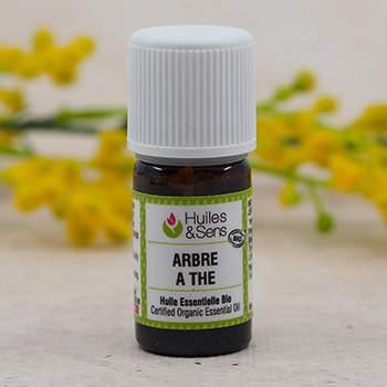 Huile essentielle biologique d'arbre à thé HEBBD 5ML