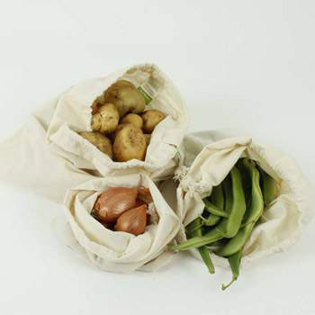 Lot de 3 sacs en coton bio A slice of Green
