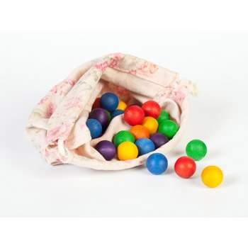 36 boules en bois coloré Grapat