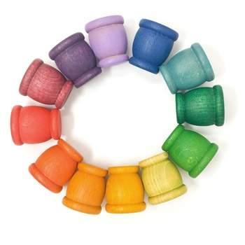 12 coquetiers colorés Grapat