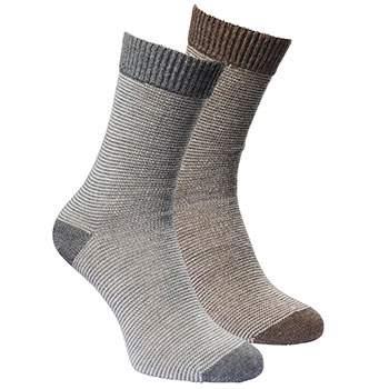 Lot de 2 paires de chaussettes en laine/alpaga Fellhof