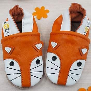 Chaussons en cuir Lookidz Fox