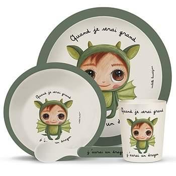 Coffret vaisselle en bambou Isabelle Kessedjian - Dragon