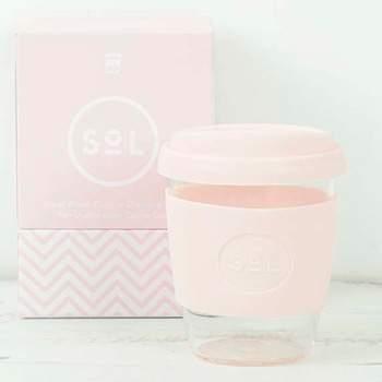 Mug café verre et silicone SoL - perfect Pink