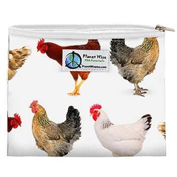 Sac à sandwiches zippé réutilisable Planet Wise - Poules