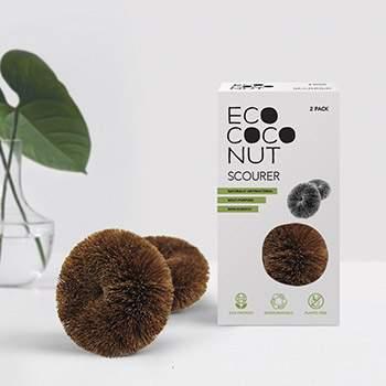 Lot de 2 brosses en coco Ecococonut
