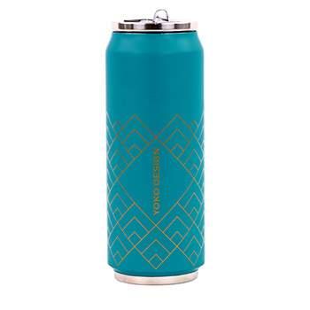Canette isotherme Inox 500 ml Yoko Design - Art Déco Bleu