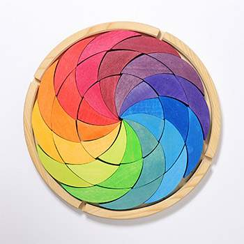 Jeu de construction en bois Rainbow Grimm's