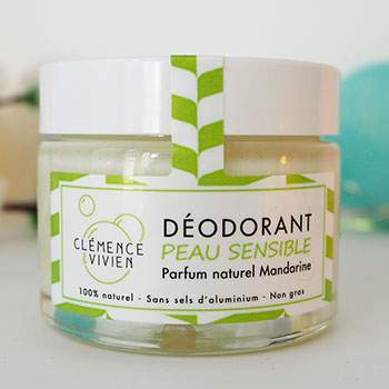 Déodorant naturel Peau sensible Mandarine Clémence & Vivien