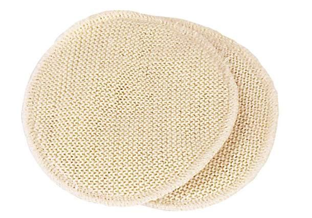 Coussinets d'allaitement lavables Laine & soie Disana - 14cm