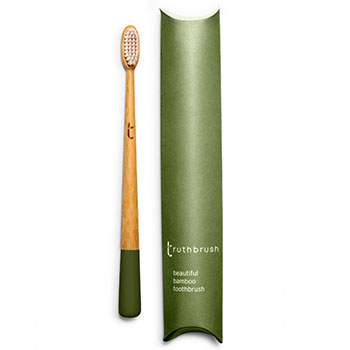 Brosse à dents en bambou Medium Truthbrush - olive