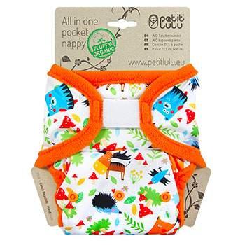 Couche lavable AIO en coton bio Velcro Petit Lulu