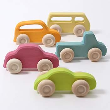 5 voitures en bois Grimm's