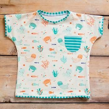 Tee-shirt en coton bio Culla Di Teby - Sea