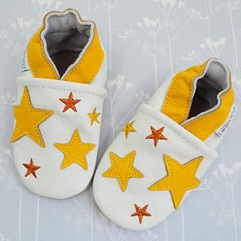 Chaussons en cuir Lookidz Yellow stars