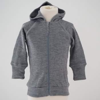 Gilet évolutif à capuche zippé en laine Manymonths Silver Cloud