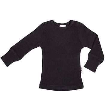 T-Shirt évolutif en laine Manymonths Panther Black