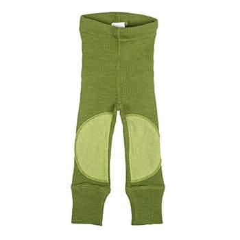 Leggings en laine avec protège-genoux Manymonths Garden Moss Green