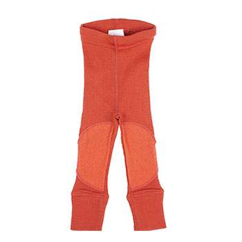 Leggings en laine avec protège-genoux Manymonths Rooibos red