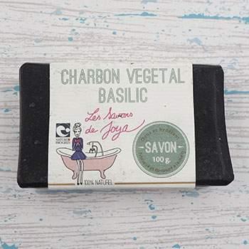 Savon Les Savons de Joya - Charbon végétal & basilic