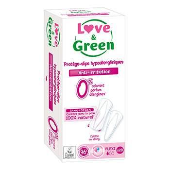 Protège-slips hypoallergéniques Flexi Love & Green