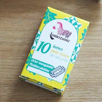 Lot de 10 lames pour rasoir en inox Lamazuna