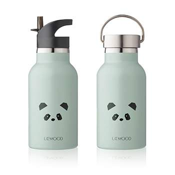 Bouteille d'eau/ gourde en inox Liewood - Panda menthe