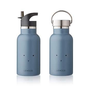 Bouteille d'eau/ gourde en inox Liewood - Lapin bleu