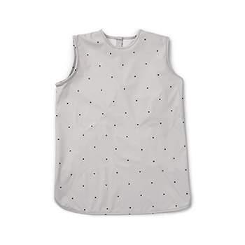 Bavoir tablier imperméable en polyester recyclé Liewood - Pois gris