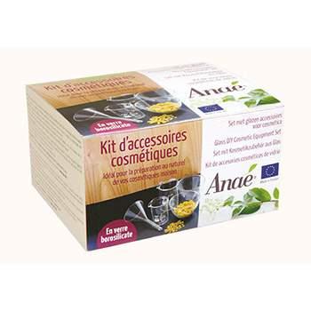 Kit d'accessoires cosmétiques en verre borosilicate Anaé