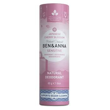 Déodorant stick Papertube Ben & Anna Sensitive Cherry Blossom