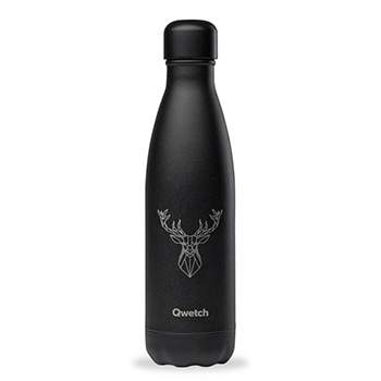 Bouteille isotherme Qwetch 500ml - TATTOO Cerf