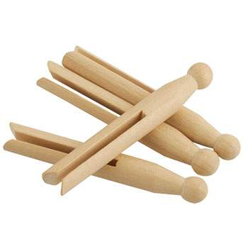 Lot 50 pinces à linge en bois Redecker