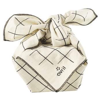 Emballage réutilisable Furoshiki Avril - Carreaux 52x52cm