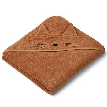 Cape de bain en coton bio Liewood - Chat Terracotta