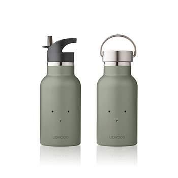 Bouteille d'eau/ gourde en inox Liewood - Lapin vert