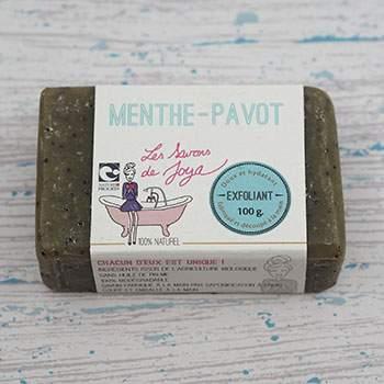 Savon Exfoliant Les Savons de Joya Menthe & Pavot