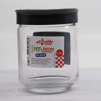 Pot à épices, étiquette en ardoise Ah Table