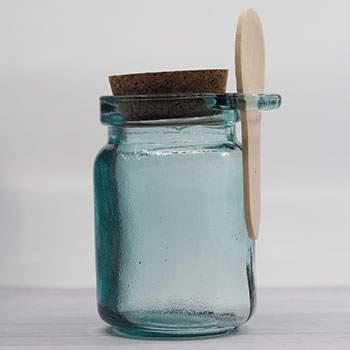Pot à condiments en verre recyclé Ah table