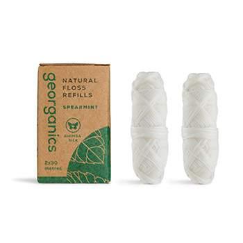 Lot de 2 recharges fil dentaire écologique Georganics - Menthe
