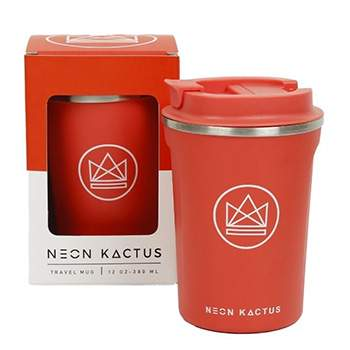Mug isotherme en inox Neon Kactus - Corail