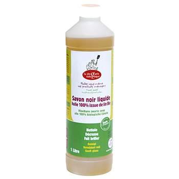 Savon noir liquide à l'huile de lin 1L Droguerie Ecologique