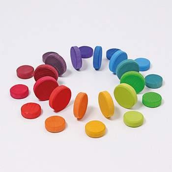 Pièces en bois Grimm's - Rainbow