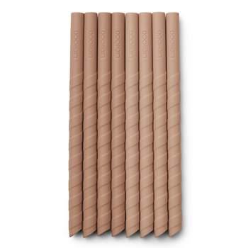 Lot de 8 pailles en silicone Liewood - Rose