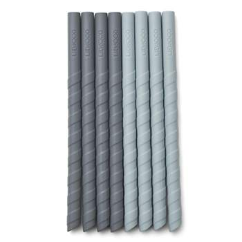 Lot de 8 pailles en silicone Liewood - Bleu