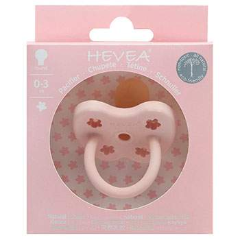 Tétine en caoutchouc naturel Hévéa - Fleurs Powder Pink