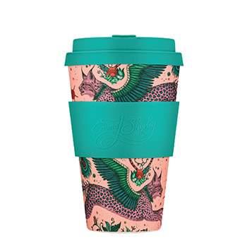 Mug à emporter Ecoffee Cup 400ml Emma J.Shipley Lynx