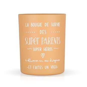 """Bougie parfumée """"La bougie des super parents"""" Créabisontine"""