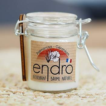 Déodorant baume Endro - Palmarosa & Géranium